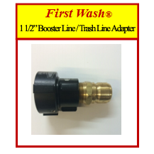 "First Wash® 1 1/2"" Booster Line / Trash Line Adapter"